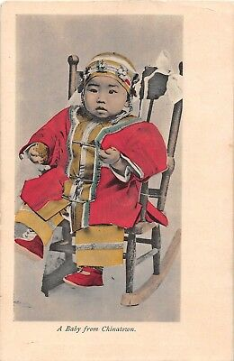 A Baby from Chinatown postcard costume Chinese Series No. 3707 Adolph Selige Pub