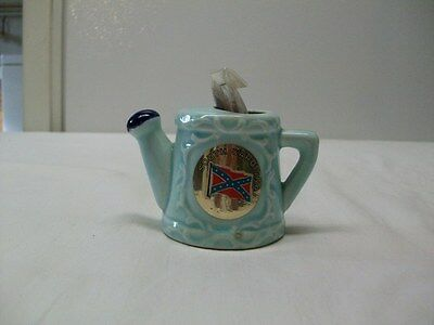 Vintage South Carolina Souvenir Watering Can Toothpick Holder