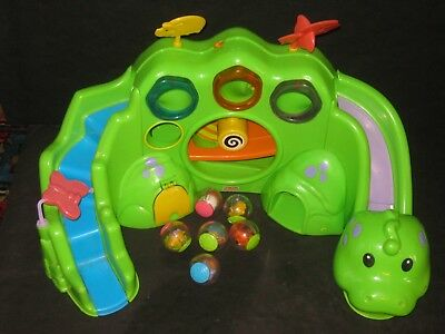 Fisher Price Drop & Roar Dinosaur With Roll Around Balls Baby Daycare Toy