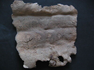 ANCIENT ROMAN FAMILY LEAD DIPLOMA WITH BUSTS AND GREEK INSCRIPTIONS 1-2 ct. AD