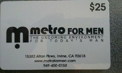 Metro for Men -- six $25 gift cards (southern CA only)