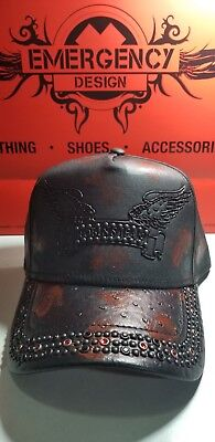 ROBIN S JEANS HAT Cap Osfa Red Wings Leather 100% Authentic -  75.00 ... 48614f47588