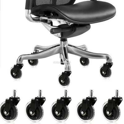 3 inch Office Chair Replacement Swivel Caster Wheels Kit 5 Pack ZZ