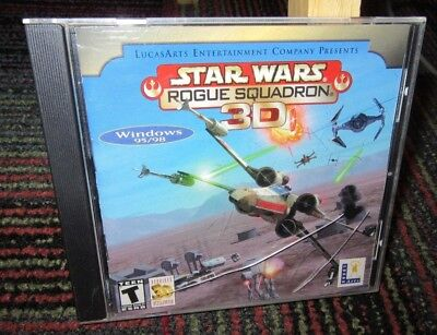 STAR WARS ROGUE Squadron 3D PC CD Rom Video Game Lucas Arts