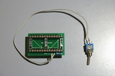 Commodore 64 Kernal ROM Switch. Adapter. Compatible with 27C128 eprom. Dual ROM.