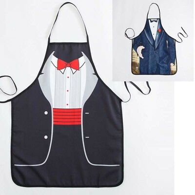 Mens Funny 3D Water Proof Aprons Costume BBQ Party Novelty Cartoon Cooking