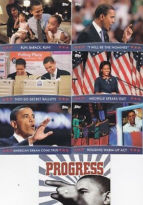 President Barack Obama 7 2008 Topps Trading Cards Look For 1 Sticker Card