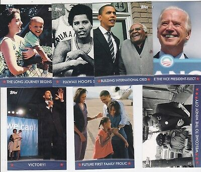 President Barack Obama 7 2008 Topps Trading Cards Kids & Family