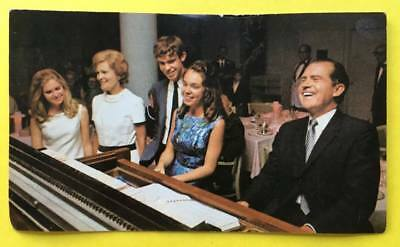 "Vintage 1968 Richard Nixon Presidential Campaign Postcard Unused 3 1/4"" x 5 1/2"""