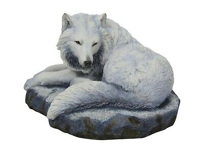 Guardian of the North  Lisa Parker Figurine Fantasy White Wolf Statue