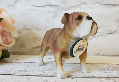 Standing British Bulldog Leonardo Dog Ornament Boxed
