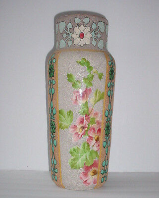 "Large 16"" Antique French HB Choisy Pottery Vase - Art Nouveau and Gorgeous!"