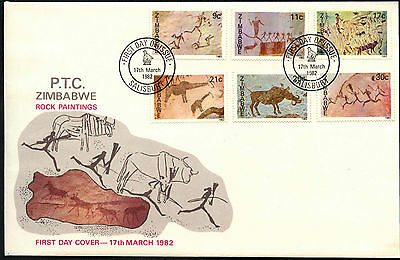 Zimbabwe 1982 Rock Paintings FDC First Day Cover #C42068