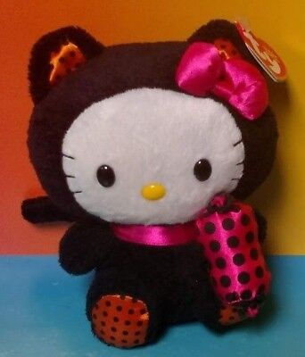 e0240425e94 Ty Beanie Baby Hello Kitty W  Cat Outfit Costume Candy Halloween New W  Tag