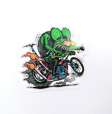 Motorcycle Rat Fink Classic Ed Roth Big Daddy Hot Rod Vintage Vinyl Car Stickers