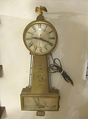 Very Nice Vintage Session Banjo Electric Wall  Clock (Parts) Runs