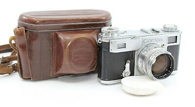 Contax II Rangefinder Camera Zeiss Sonnar 50mm F1.5mm Lens #F40092