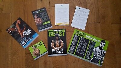 Beachbody Body Beast DVD workout set complete with book