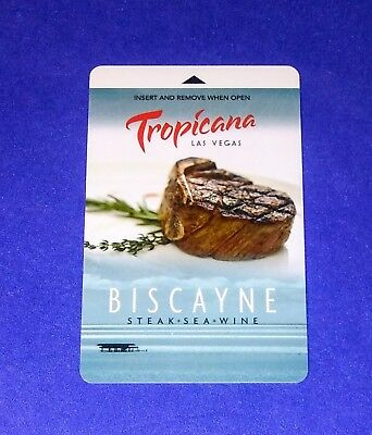 Tropicana Hotel Casino Las Vegas 'Biscayne Steakhouse' Room Key Card