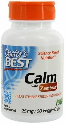 45g, 83,89 EUR/100g Doctor's Best Calm with Zembrin, 25mg - 60 vcaps