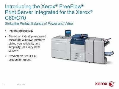Xerox Free Flow Print Server   für / for C60 C70   450S03129   450S03090