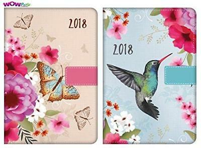 2020 BUTTERFLY OR FLOWER DESIGN DAY TO PAGE INDEXED AND TIMES   DIARY TALLON