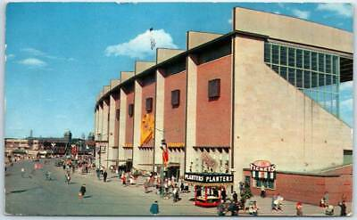 1958 Toronto Canada Postcard Grandstand & Midway - Canadian National Exhibition