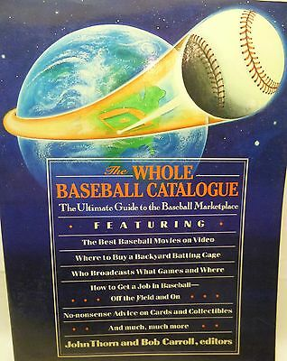 The Whole Baseball Catalog-Guide to Early Major League Baseball Marketplace-Info
