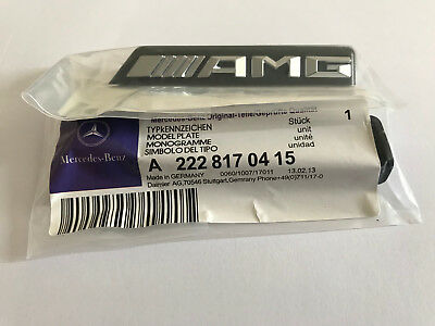 Mercedes Benz AMG Front Grille Badge Emblem W205 W212  A C E S  Class Latest MB2
