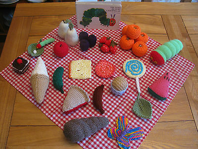 The Very Hungry Caterpillar Story Sack (Knitted Food ,EYFS Teaching Resource)
