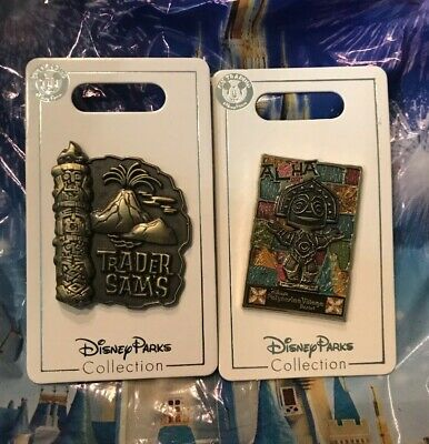 Disney Trader Sams Two Pin Set Tiki Room Al Ha New