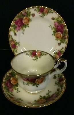 Royal Albert Old Country Roses  Tea Cup,Saucer, Side Plate Trio No. 1
