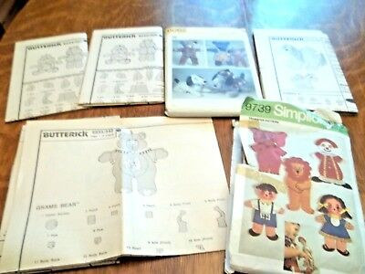 Vintage lot of Sewing Patterns *Care Bear, My Pretty Pony & More*