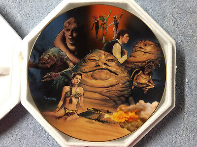 Star Wars Hamilton Collection Plate Jabba The Hutt