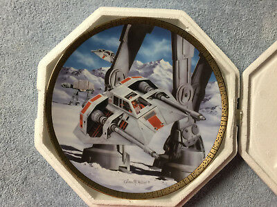 Star Wars Hamilton Collection Plate Snowspeeders