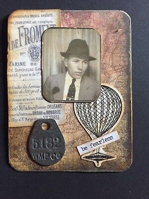 Mixed Media Collage Art Card - Vintage Theme. OOAK ACEO