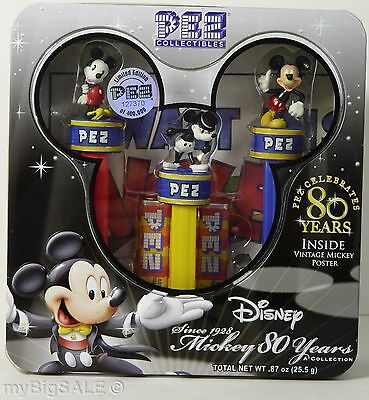 Disney Mickey Mouse PEZ Collectibles Collection 80 Years New in Box 2007