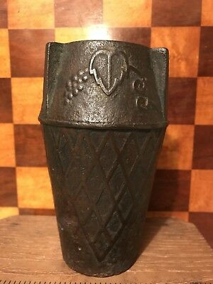 Cast Iron Vase Vintage Garden Art Nouveau Grape Lattice Design