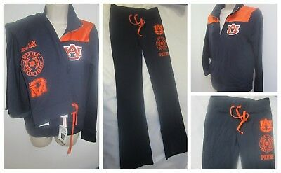 634be450978328 Victoria's Secret AUBURN TIGERS Sweatshirt & Flare Yoga Pants 2 Pcs Set ...