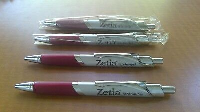 Zetia Pharmaceutical Drug Rep Pens Lot Of 4