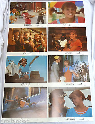THE NEW ADVENTURES OF PIPPI LONGSTOCKING Lobby Card Set 8 1988 11x14 Tami Erin