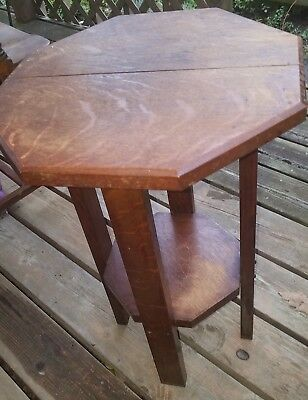 Antique Mission ~ Arts & Craft ~ Quarter Sawn Oak Night ~Plant ~ Display Stand