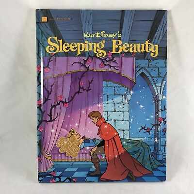 Vtg 1986 Walt Disney Sleeping Beauty Book Golden Hardcover Classic Cartoon Movie