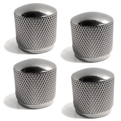 3pc Chrome Dome Bass//Electric Guitar Knobs for Volume Tone Controls Metal