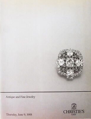 """Christies New York Auction Catalog """"Antique and Fine Jewelry"""" 6/9/88 Great Shape"""