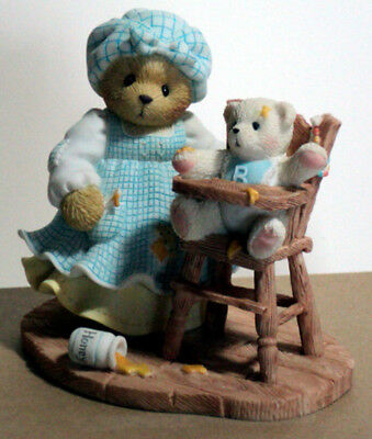 Cherished Teddies CHARLOTTE & CLAY Hamilton Exclusive RARE 101684 mother w baby