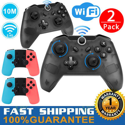 2 Pack Wireless Pro Controller Gaming Gamepad Joypad for Nintendo Switch Console