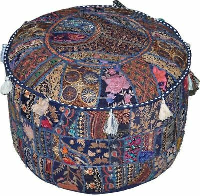 Ottoman Cover Pouf Home Decorative Living Room Foot Stool Vintage Indian Ottoman