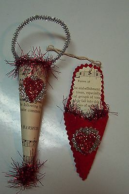 2012 Bethany Lowe by Lesa Dailey Valentine's Day Petite Ornament Set of 2