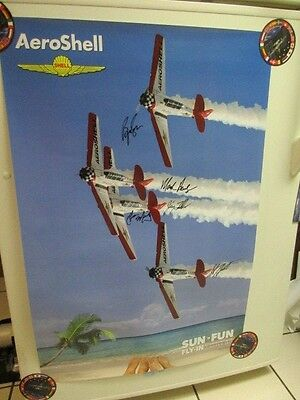 Aeroshell Airplane Signed Poster Sun 'n Fun Airshow Lakeland Florida 2017